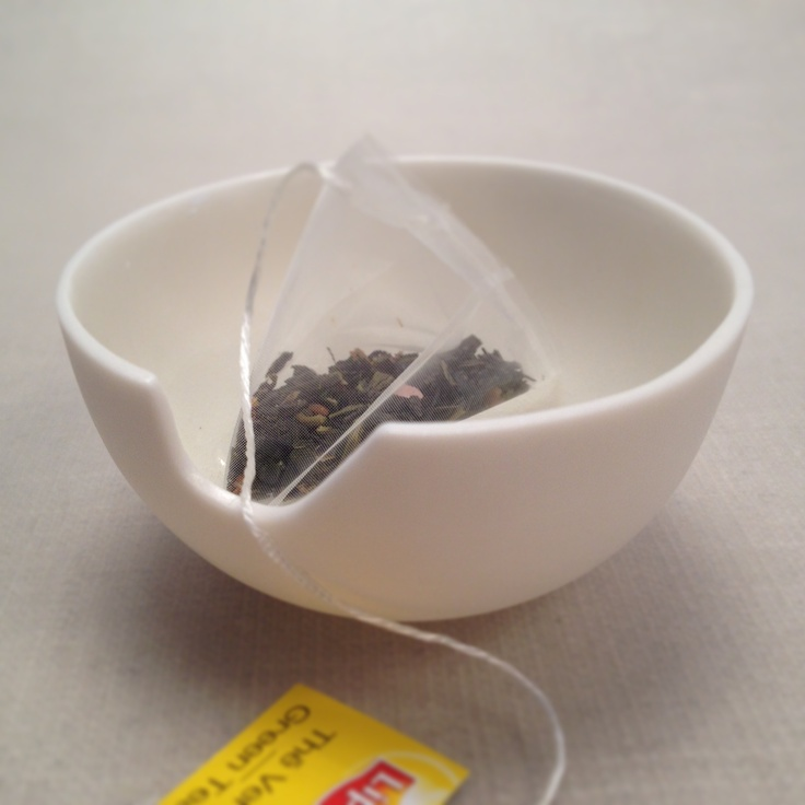 Small porcelain bowl for a single teabag.