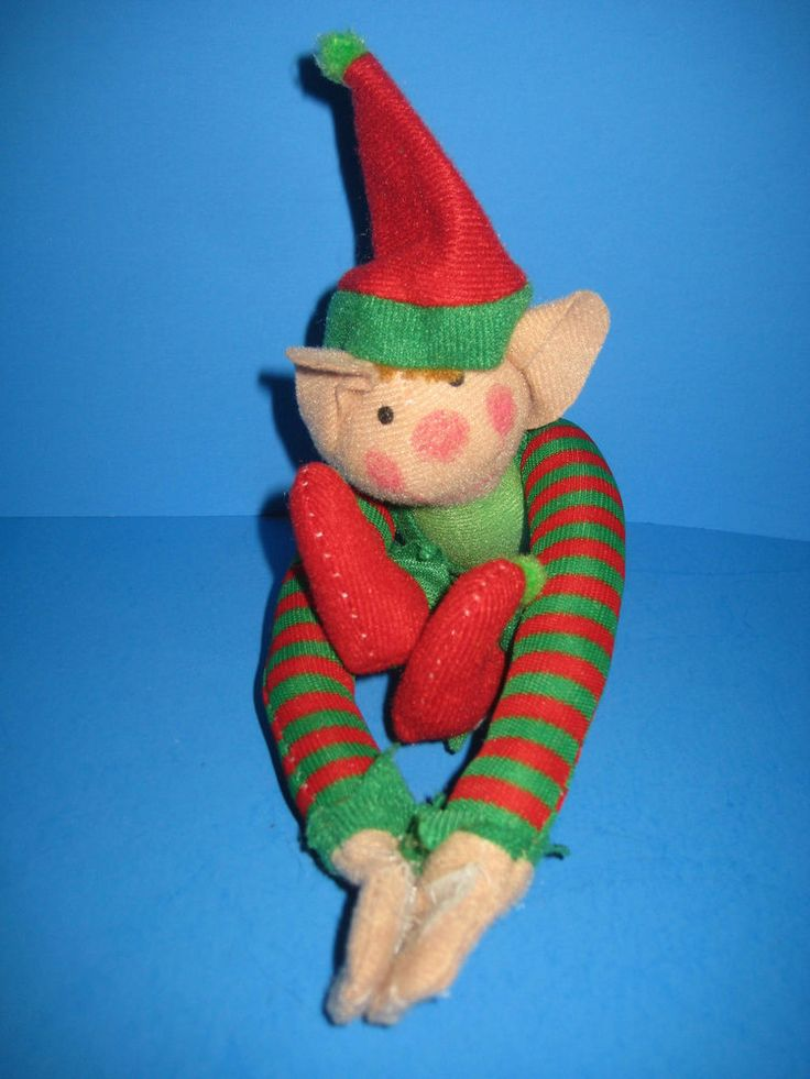 Christmas Boy ELF Big Ears Long Arms With Velcro Hands #2 #OTC