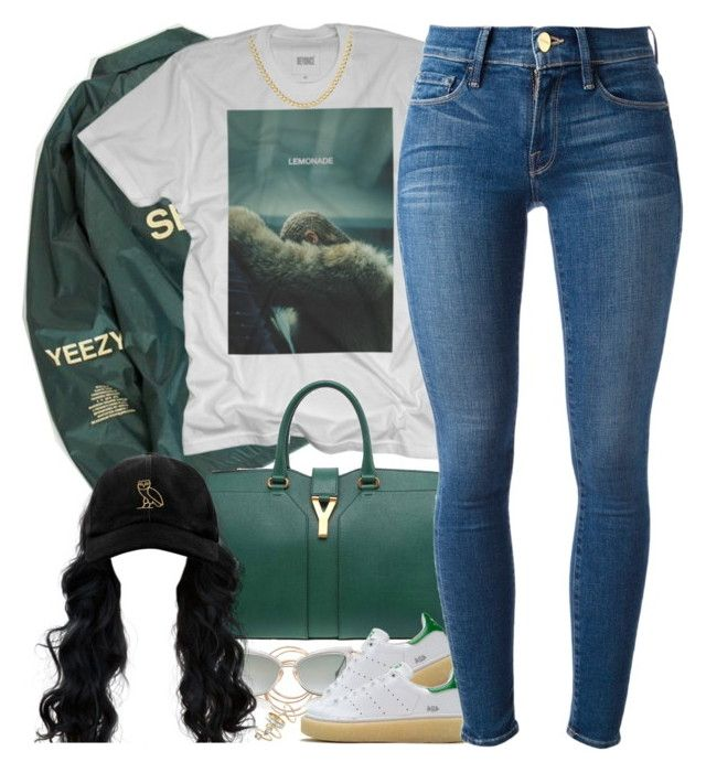 """""""Greenery"""" by oh-aurora ❤ liked on Polyvore featuring Forever 21, Yves Saint Laurent, Dita, Mr. Completely, Frame Denim, Alexis Bittar, October's Very Own, polyvorecommunity, polyvoreeditorial and styledbyA"""