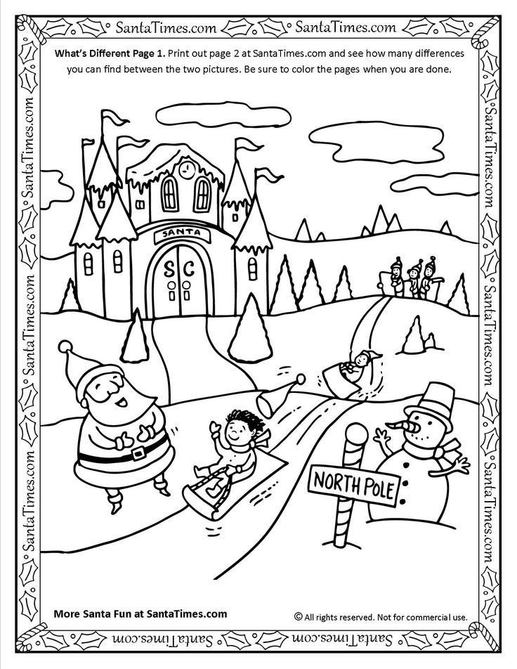 Whats Different With Santa Activity Page 1 More Fun Activities And Coloring Pages At SantaTimes