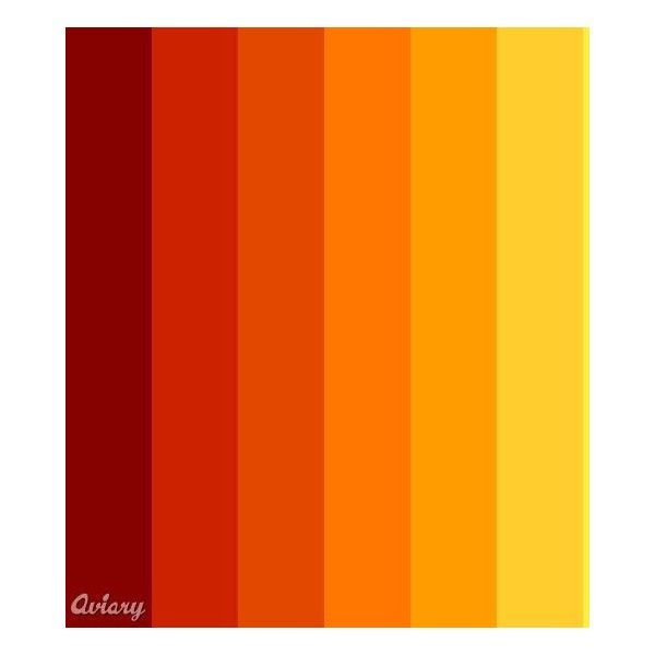 Fire Red Orange yellow palette - made in Aviary - color ...