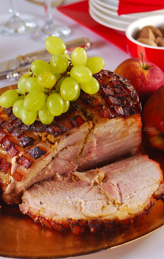 I love pork roast served over arroz con guandules and Russian potato salad.  I could eat it everyday.