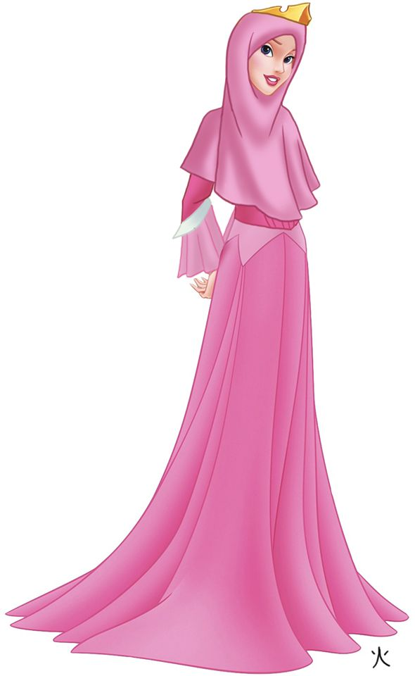 Disney princess aurora as a Muslim