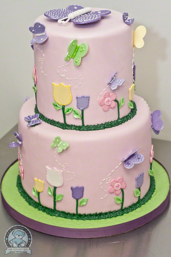 Butterfly Baby Shower Theme | Butterfly Themed Fondant Specialty Cake
