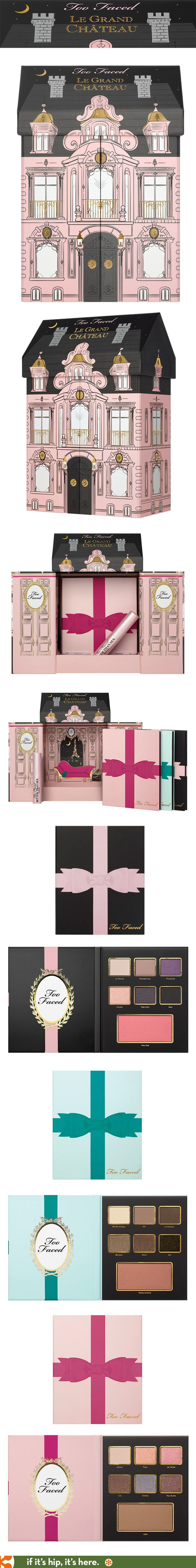 How cute is this special packaging for Too Faced's Le Grand Chateau Limited Edition Christmas Collection of makeup!?