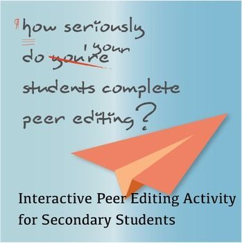 This editing and proofreading activity goes beyond a simple checklist. It requires students to engage with a peer and apply constructive feedback. It follows the six traits of writing.