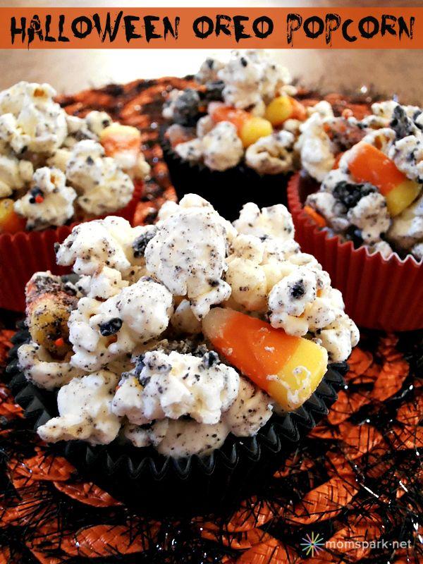Halloween Oreo Popcorn - yum!