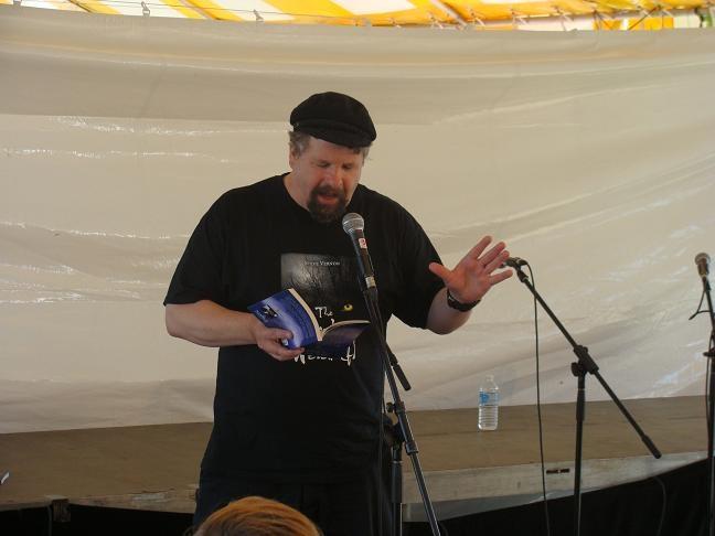 "Nimbus author, Steve Vernon, reading from his YA novel,  ""Sinking Deeper,"" WOTS Haifax, 2011"