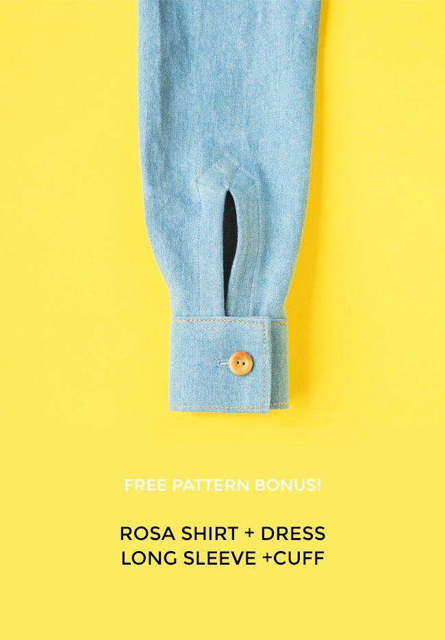 Free Pattern Bonus! Rosa Shirt Long Sleeve and Cuff Variation