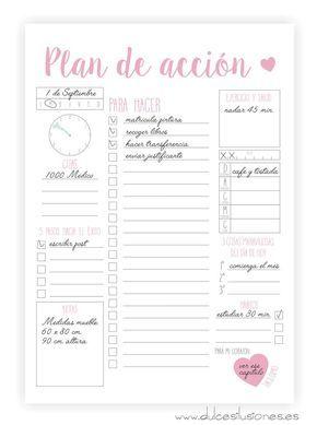 Plan de acción para organizar tus días.