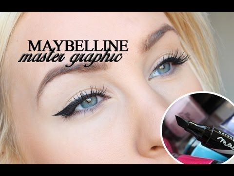 Maybeliine master graphic eyeliner tutorial - Helen Torsgården- I dont understand her but she makes this eyeliner look effortless
