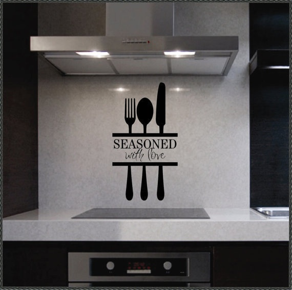 Kitchen Wall Sayings Vinyl Lettering: Vinyl Wall Quotes Kitchen Lettering Seasoned