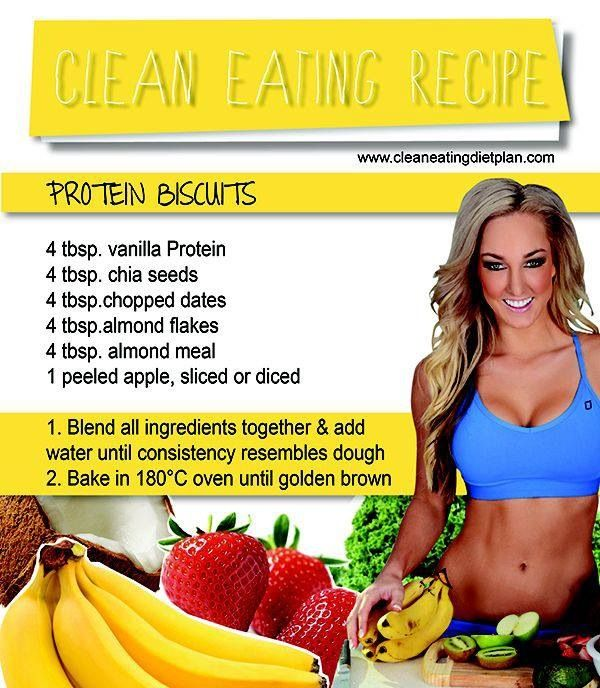 Clean eating recipe - protein biscuits for when you're craving something sweet! So quick and Easy!