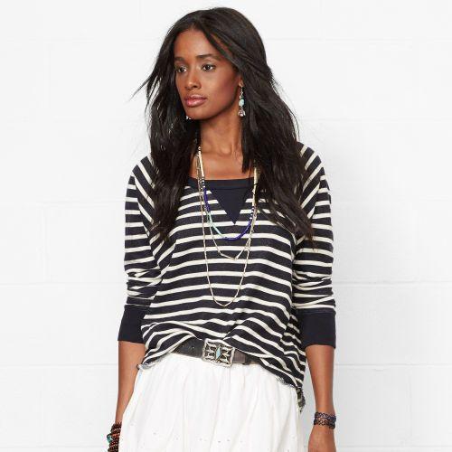 Ralph Lauren Denim & Supply Striped Sweatshirt