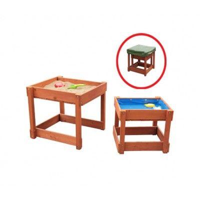 SUN Sand und Wasser Spieltisch-Set aus Holz 06007 braun
