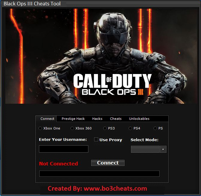 Best Tool For Cheating In BO3 - Do you play call of duty black ops 3 game on Xbox, PS3, PS4 or PC? If you do, and you want to cheat in this game, then you should check this website right now. Why? Because here you can download COD Black Ops 3 Multihack tool which works for all consoles completely free.
