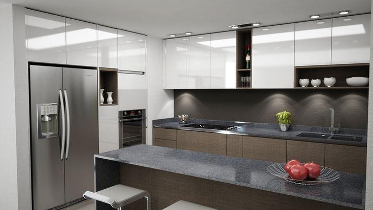 iluminacion cocina moderna - Buscar con Google