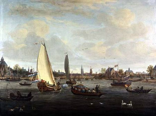 View of Amsterdam Harbour