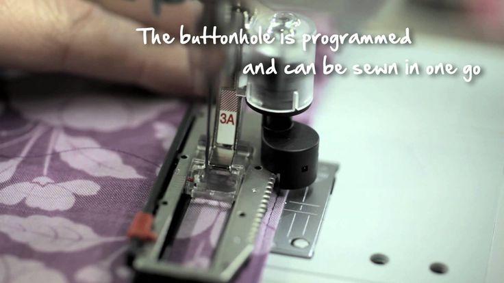 4/10 BERNINA 580: how to sew a buttonhole. BerninaInternational