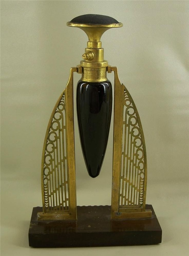 Art Deco Early Patented Perfume Bottle / eBay (not sure if this Art Deco or Art Nouveau)