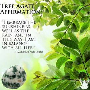 Tree Agate Gemstone Affirmation Meme