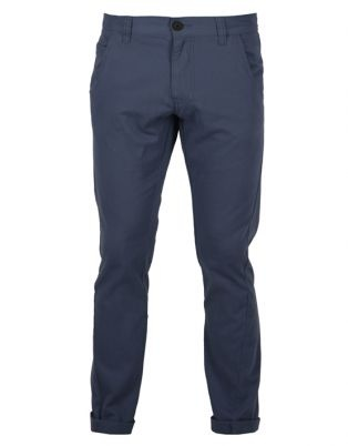 Bellfield Twisted Leg Chino Pants Navy Blue