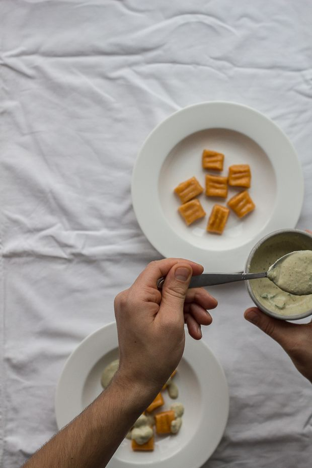 Sweet potato gnocchi with almond sauce :: readeat.pl