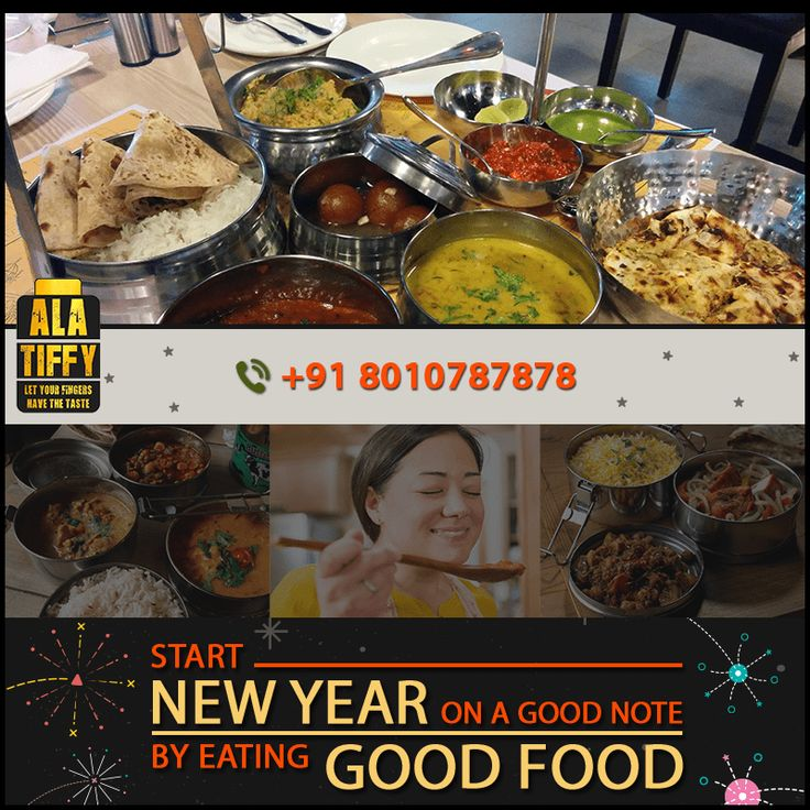 As New Year has arrived, welcome it by ordering delicious Food from Alatiffy. Call +91-8010787878 to order now. #Alatiffy #GharKaKhana #HomeMade #Food #Online #Tiffin #Service