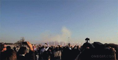 Fogos de artifício para o dia.
