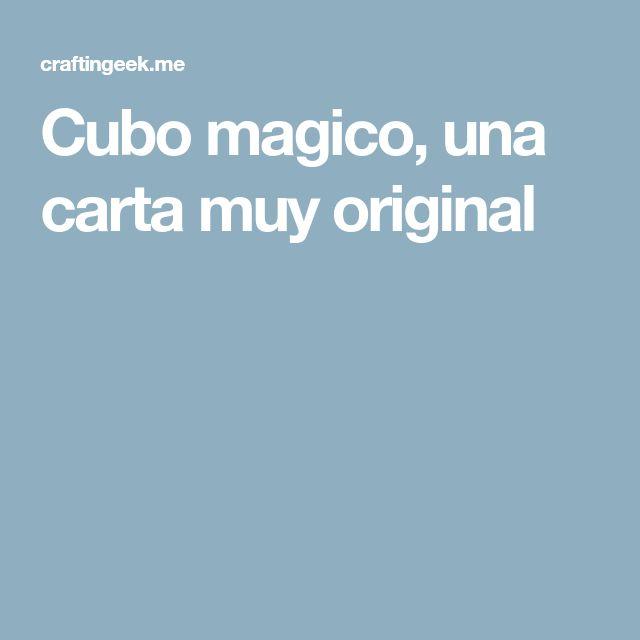 Cubo magico, una carta muy original