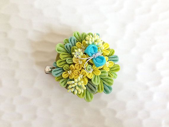 Hey, I found this really awesome Etsy listing at https://www.etsy.com/listing/190660120/japanese-hair-clip-brooch-rape-blossoms