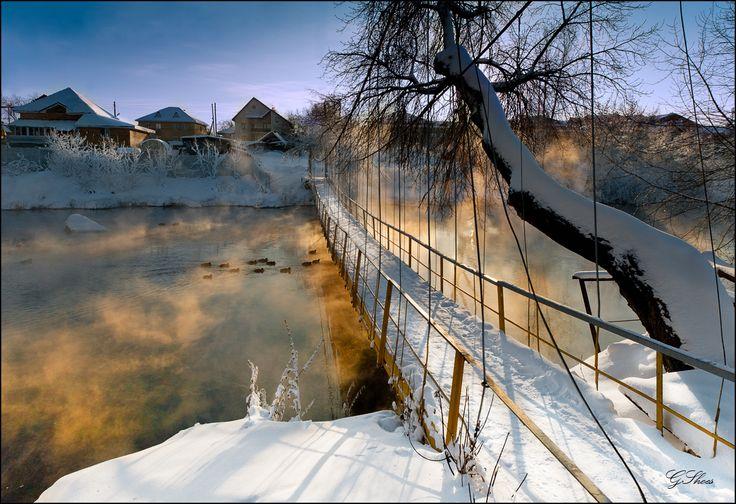 35PHOTO - Шуз Георгий - Зимний закат на окраине Екатеринбурга