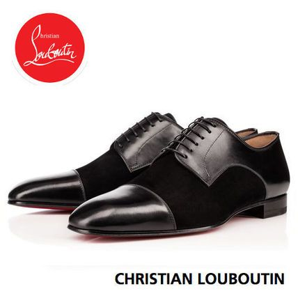 Christian Louboutin ドレスシューズ・革靴・ビジネスシューズ ルブタン Top Daviol Flat 羽根の切替えが美しいドレスシューズ