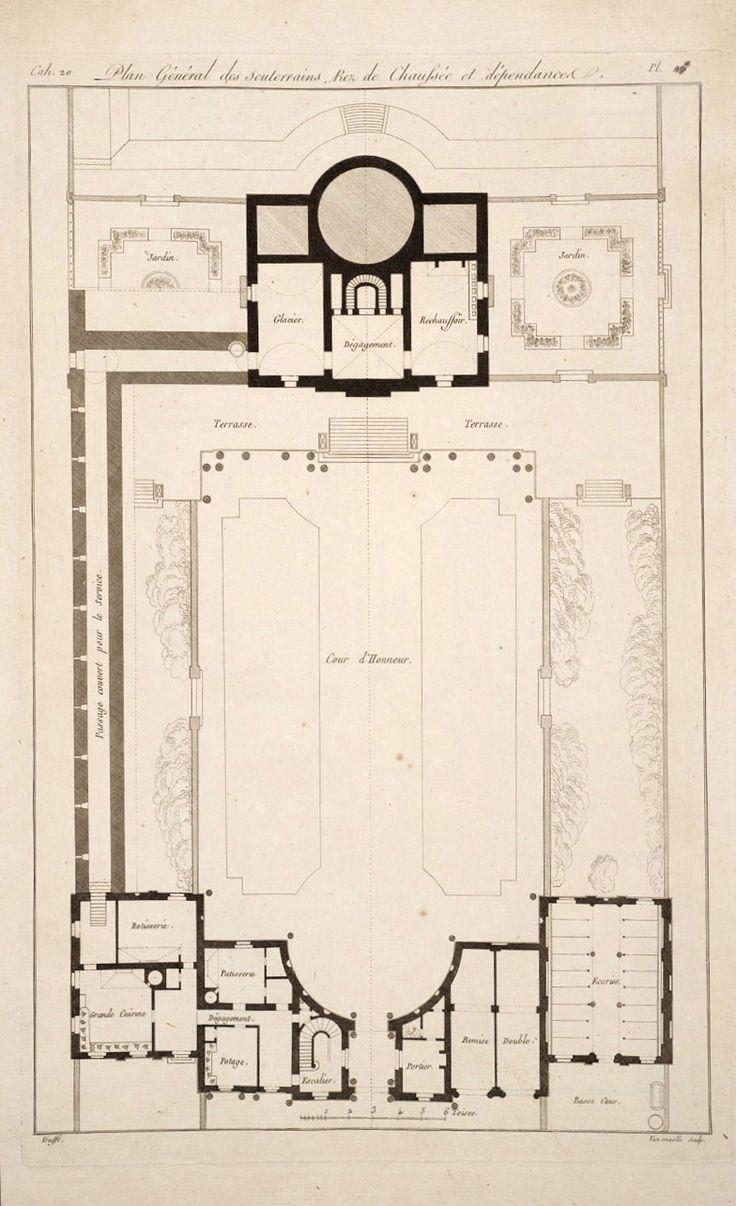 Bagatelle ground floor 1777 bois de boulogne paris for 10 bellair floor plans