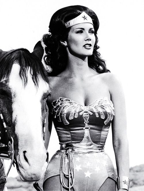 "I did have a crush on Wonder Woman. And never does a time go by that I don't see a woman with her fists on her hips standing tall and think ""hey, it's Wonder Woman."" (PS - Linda Carter wasn't bad either)"
