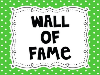 Wall of fame - great for goal setting, plus FREE printables.