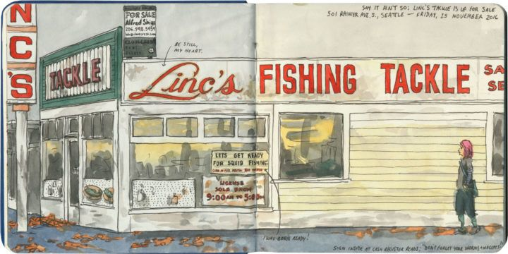 RIP Linc's Tackle, a Seattle fixture since the 1930s.