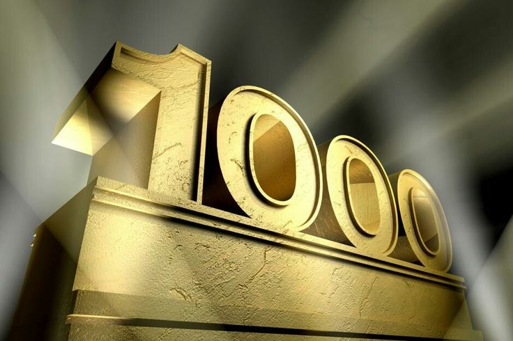 Thanks for 1000!!!