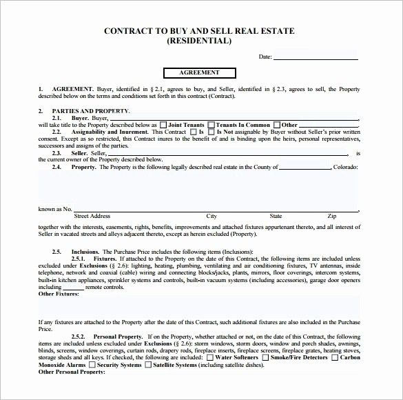 Free Real Estate Contract Template Awesome Free Printable Real Estate Purchase Agreement Real Estate Contract Contract Template Purchase Contract