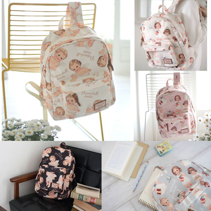 Korea AFROCAT Paper Doll Mate Backpack School Travel Bag Polyester Waterproof