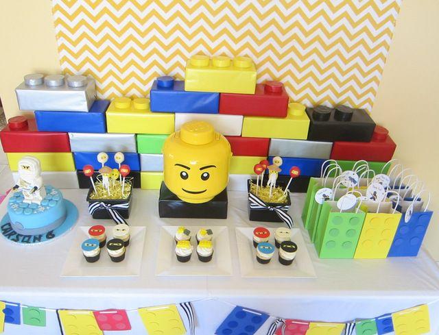 Lego ninjago birthday party: Birthday Lego, Lego Ninjago, Lego Parties, Ninjago Birthday, Ninjago Parties, Birthday Parties Ideas, Bday Parties, 6Th Birthday Parties, Desserts Tables