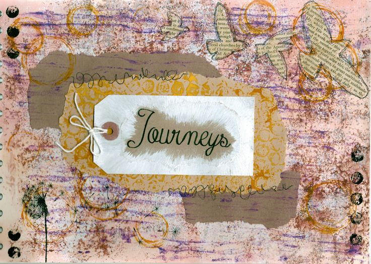 First page in my new sketchbook 'Journeys'