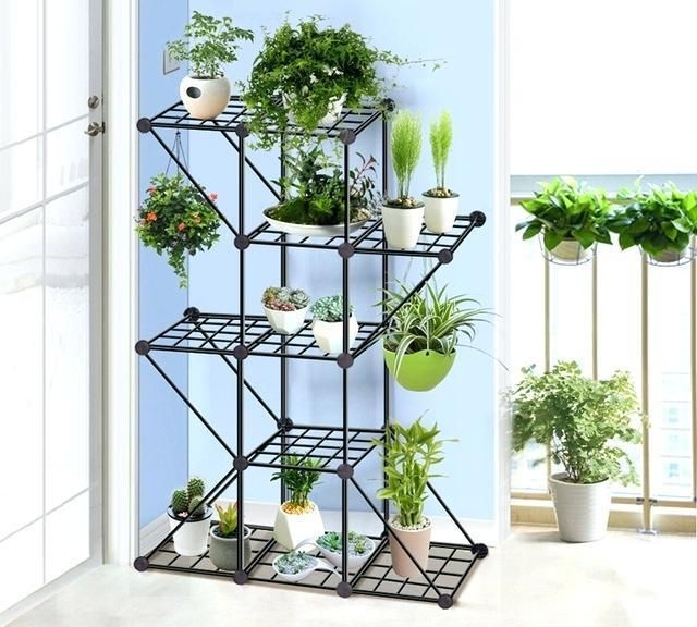 Balcony And Indoor Flower Pot Holder Garden Small Plant Stand Iron Pergolas Succulent Plants Tall Plant Stand Design For Indoor Houseplant Interior Design Ide Indoor Flower Pots Small Plant Stand