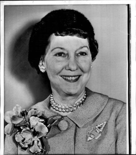 Press photo from Nov. 13, 1959 -- In Washington yesterday - Mrs. Eisenhower was photographed at a party in her honor at the Capitol Hill Club. | eBay