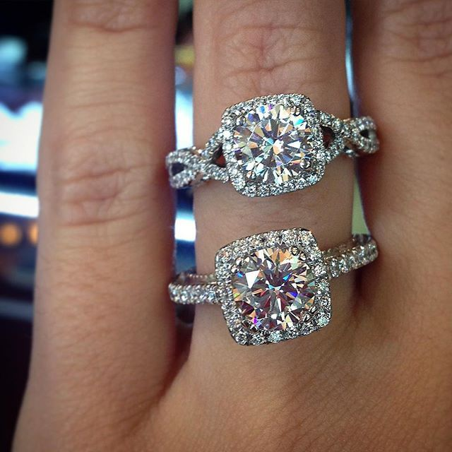 Halo engagement ring settings by Verragio