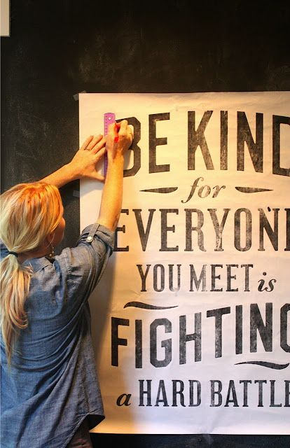 DIY:  Chalkboard Wall Lettering plus a great image - {Plato}