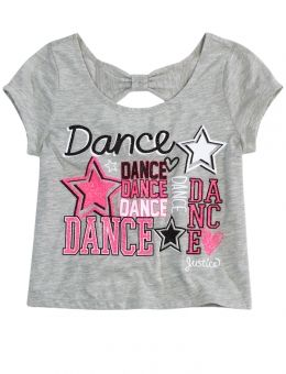 DANCE BOW BACK GRAPHIC TEE | GIRLS DANCEWEAR CLOTHES | SHOP JUSTICE