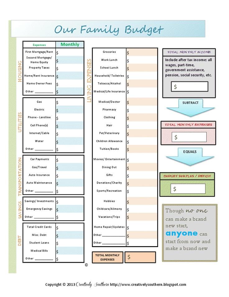 292 best Budgeting images on Pinterest Budget planner, Budget - budget worksheet in pdf