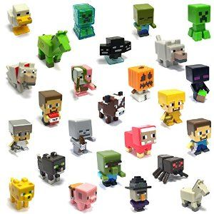 Highly Collectable Minecraft Mini Figures - Mega Value 10 Pack (10 Random figures supplied)