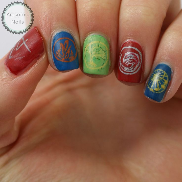 Nails inspired by the Divergent series - artsomenails